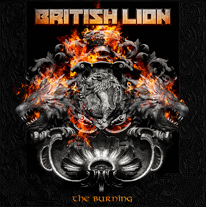burning british lion