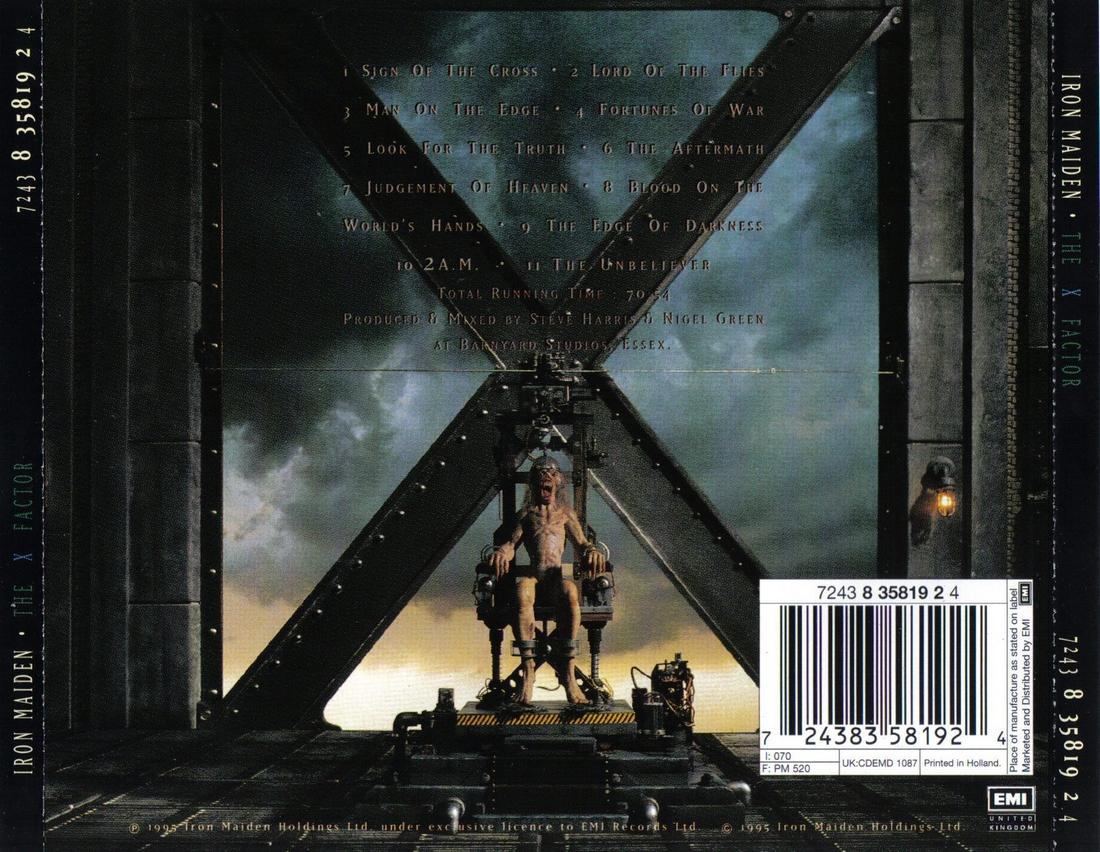 X on Iron Maiden Eddie
